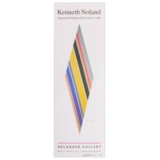 Signed Kenneth Noland Poster