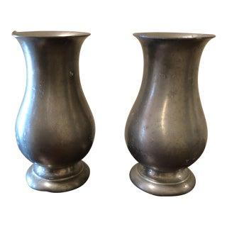 Preisner Pewter Urns - A Pair