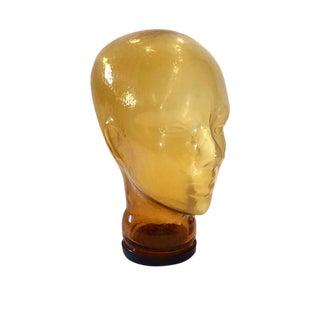 Vintage Glass Head Sculptural Mannequin Head