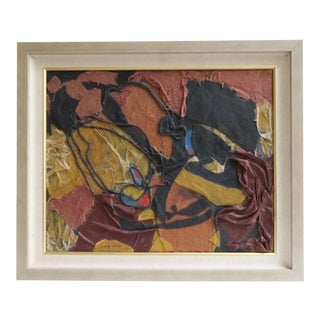 Vintage Abstract Fabric Collage