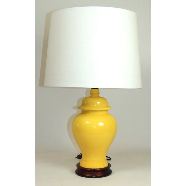 Yellow Ginger Jar Table Lamp - Image 2 of 7