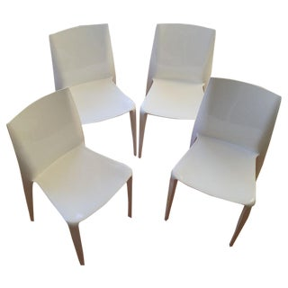 White High Gloss Bellini Chairs - Set of 4