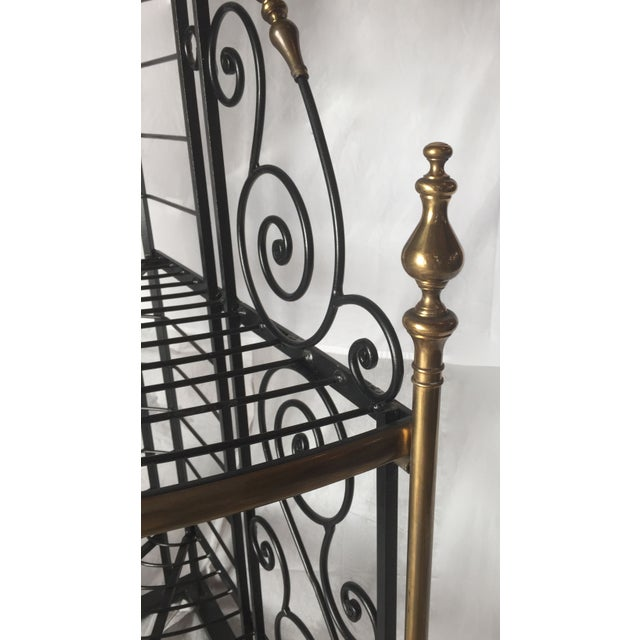 Vintage French Brass And Iron Corner Baker's Rack - Image 3 of 8