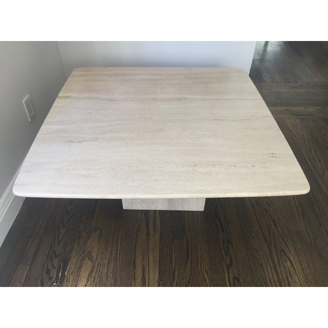 Italian Travertine Marble Coffee Table - Image 3 of 9