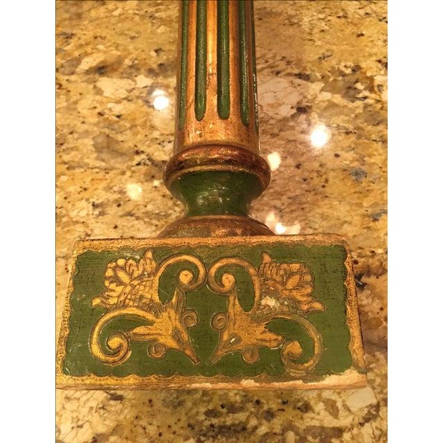 Florentine Green & Gold Italian Pedestal - Image 8 of 8