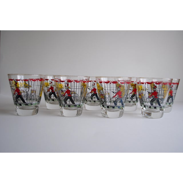 Vintage Circus Theme Whiskey Glasses - Set of 8 - Image 5 of 11