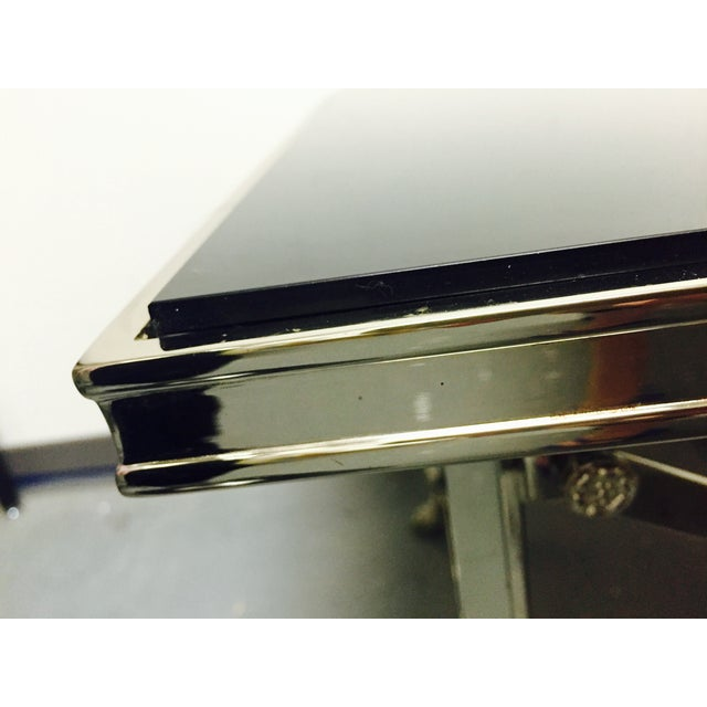 Image of Ralph Lauren Black Glass Top Coffee Table