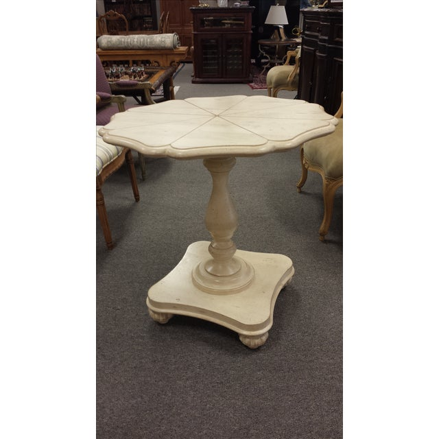Harden Lily Pad Pedestal Side Table - Image 2 of 7