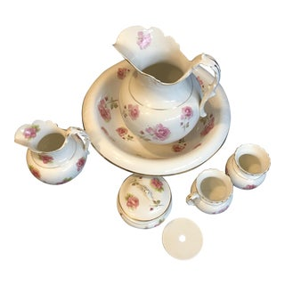1930 Porcelain Shaving & Bathroom Set - Set of 6