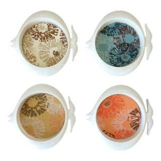 Mid-Century Plastic Fish Coasters - Set of 4