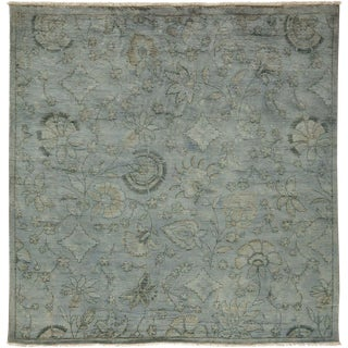 "Vibrance Hand Knotted Square Rug - 5' 10"" X 6' 1"""