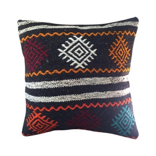 Vintage Turkish Kilim Pillow Case