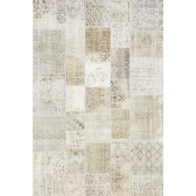 """Image of Overdyed Patchwork Rug - 6' 7"""" X 9' 9"""""""