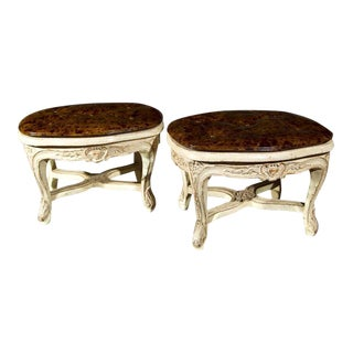 French Louis XV Style Footstools - A Pair