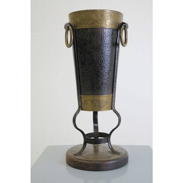 Umbrella Stand Ireland: Ornate Hand Hammered Brass Umbrella Stand