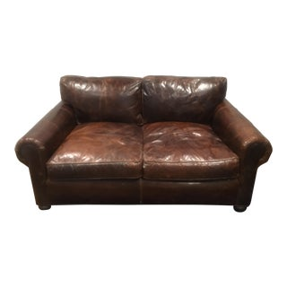 Restoration Hardware Lancaster Leather Sofa