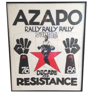 Azanian People's Organisation Rally Poster