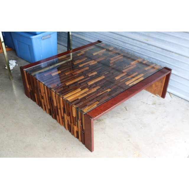 Brutalist Percival Lafer Rosewood Cocktail Table - Image 4 of 7