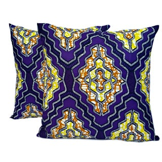Sample Sale African Wax Print Pillows - a Pair