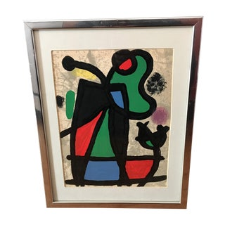 Original Miro Lithograph From Derriere Le Miroir