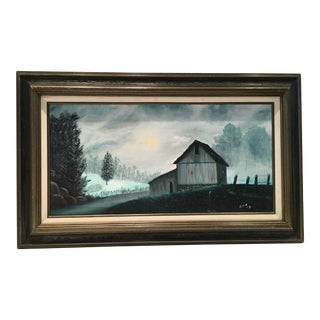 Vintage Original Oil Painting on Canvas by Eva
