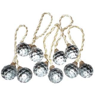 Regency Crystal Ball Curtain Ties - Set of 5