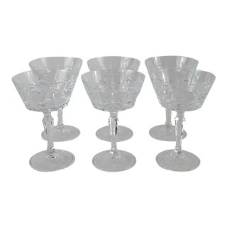 Cut Crystal Coupes - Set of 6