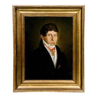 19th Century Oil Portrait of A Belgian Count