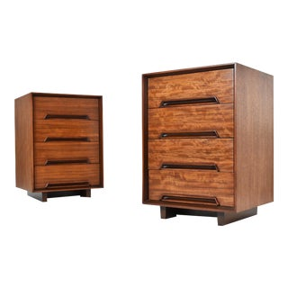 Mid Century Milo Baughman for Drexel Perspective Nightstands - A Pair