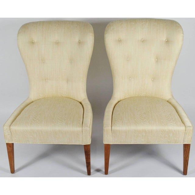 Pair Of Modern Balloon Back Chairs Image 3 6