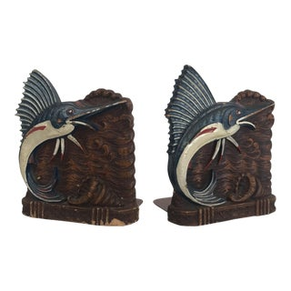 Nautical Marlin Bookends - A Pair