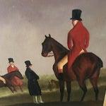 Image of Jockey on Racehorse Oil Board