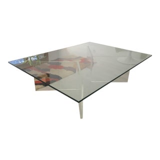 Mid-Century Lucite and Glass Coffee Table