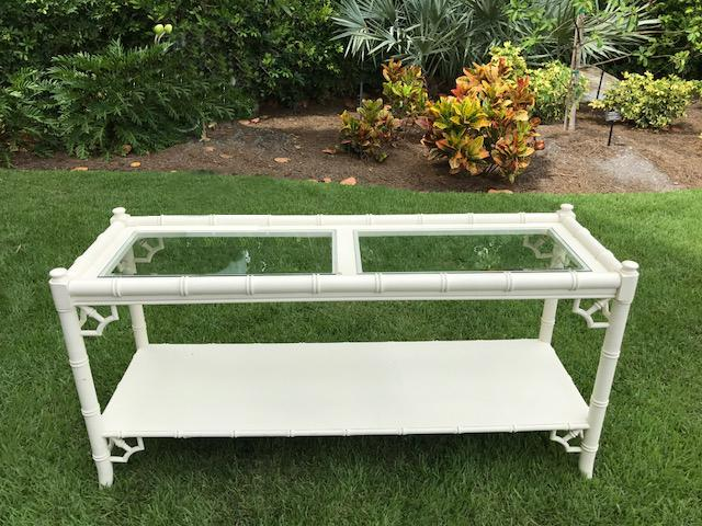 Vintage Faux Bamboo Thomasville Allegro Console Table   Image 2 Of 7