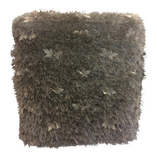 Gray Maiden Wool Pouf
