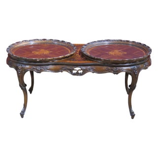 Louis XVI-Style Inlaid Tray Top Coffee Table