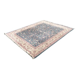 Kashan Handknotted Area Rug- 9′1″ × 12′8″
