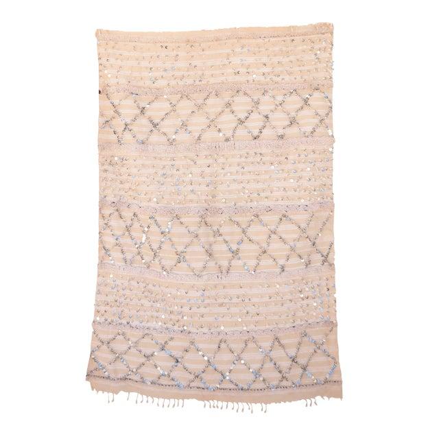 Image of Vintage Handira Moroccan Wedding Blanket