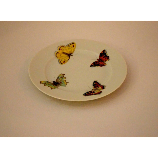 "Set of Seven Vintage L. Bernardaud Porcelain ""Butterfly"" Pattern Canape Plates - Image 3 of 5"