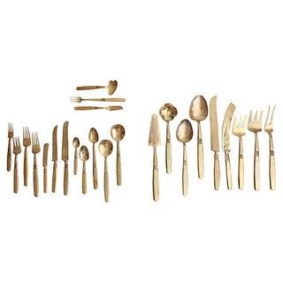 Bronze Flatware & Serveware for 12