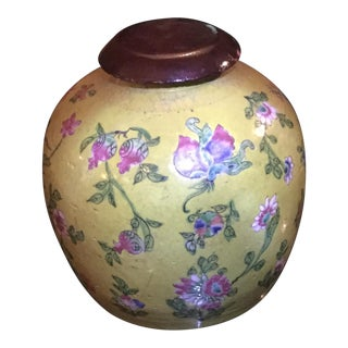 Antique Yellow Glazed Chinese Vase