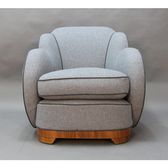 Art Deco Upholstered Chairs - A Pair - Image 5 of 9