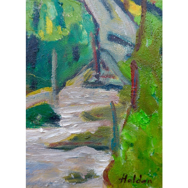 Swiss Farm in Summer Plein Air Painting - Image 4 of 6