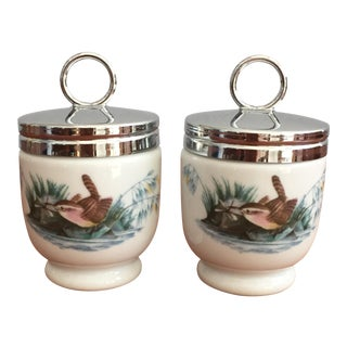 Vintage Royal Worcester Egg Coddlers - A Pair