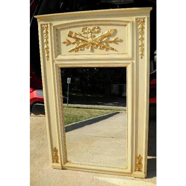 French Gold Quiver Acanthus Gold Mirror - Image 2 of 3