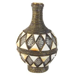 Moroccan Bone Inlaid Jug