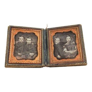 Mother of Pearl & Silver Inlay Daguerreotype Case