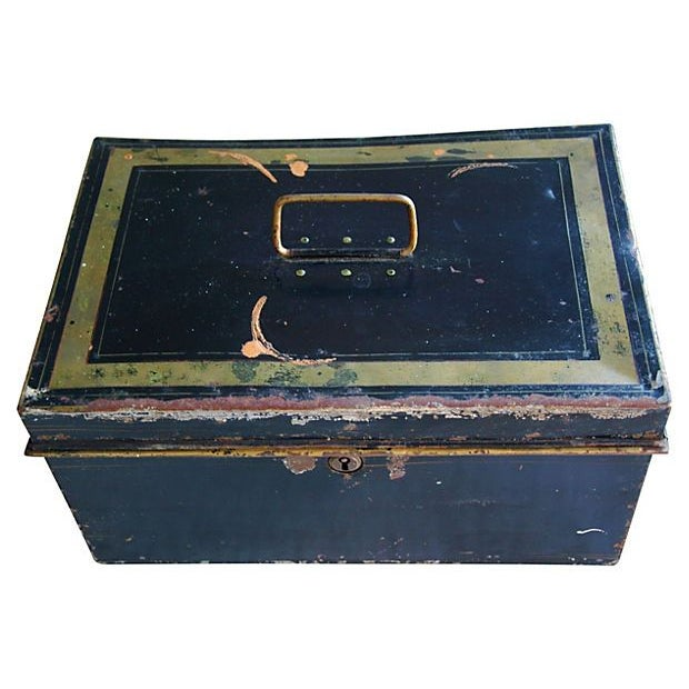 Antique Tin Document Box - Image 5 of 6