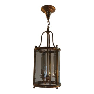 Beautiful Gilt Brass and Glass Lantern