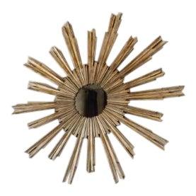 Mid-Century Brass Starburst Mirror